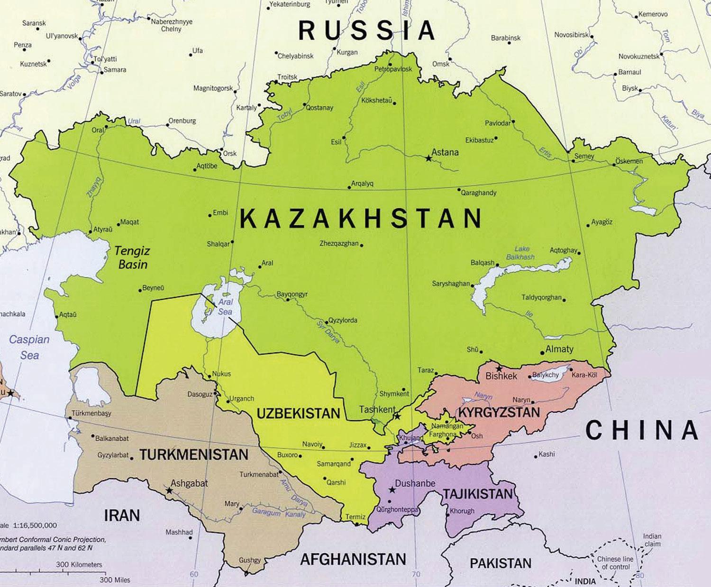 Tengiz Kazahstan Karta Tengiz Kazahstan Srednja Azija Azija