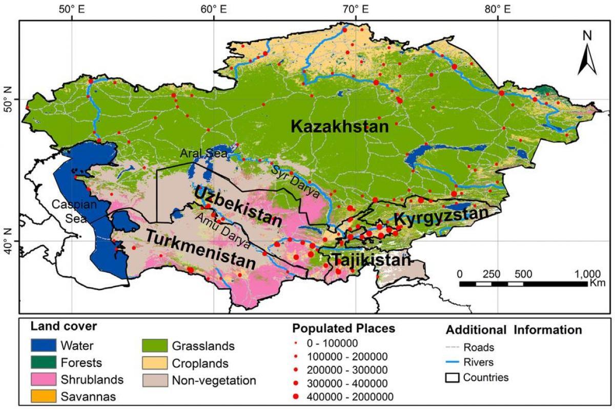 Kazahstan Klimatskih Karta Karta Kazahstana Klime Srednja Azija